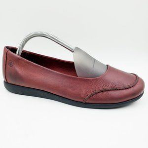 Wenger Red Leather Swiss Comfort Driving Flats